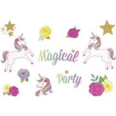 Fairytale Unicorn Cutout Wall Decorations (Pack of 12)