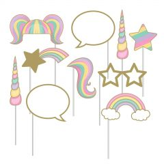 Unicorn Sparkle Photo Booth Props (Pack of 10)