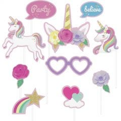 Fairytale Unicorn Party Photo Props (Pack of 10)