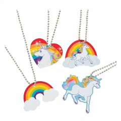 Metal Unicorn Necklaces (Pack of 12)