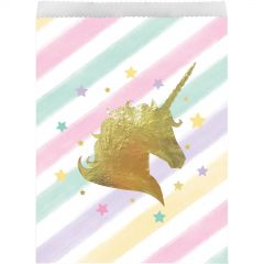 Unicorn Sparkle Paper Gift Bags (Pack of 10)