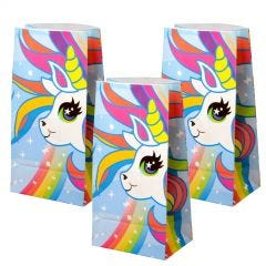 Unicorn Paper Favour Bags (Pack of 12)