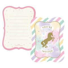 Unicorn Sparkle Party Invitations (Pack of 8)