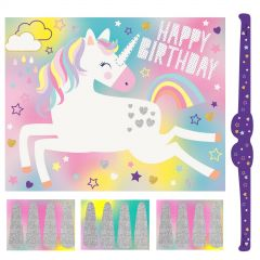 Unicorn Pin the Horn Party Game