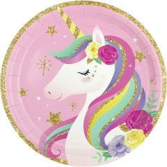 Fairytale Unicorn Large Paper Plates (Pack of 8)