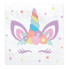 Unicorn Party Small Paper Napkins / Serviettes (Pack of 16)
