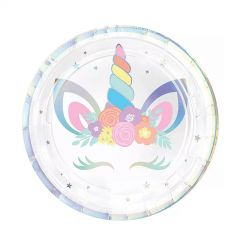 Unicorn Party Small Paper Plates (Pack of 8)