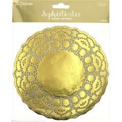 Small Gold Paper Doilies (Pack of 20)