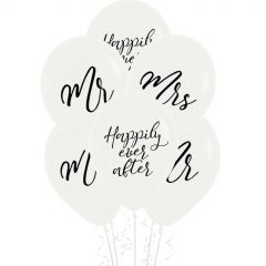 Mr & Mrs Happily Ever After Balloons (Pack of 6)