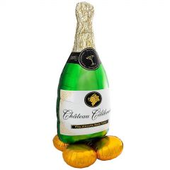AirLoonz Champagne Bottle Air Fill Balloon 152cm