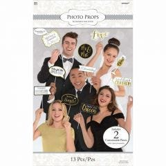 Wedding Photo Booth Props (Pack of 13)