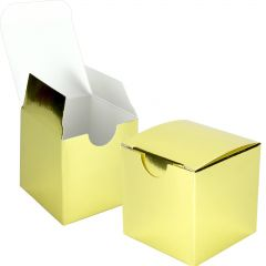 Gold Paper Lolly/Treat Boxes (Bulk Pack of 100)