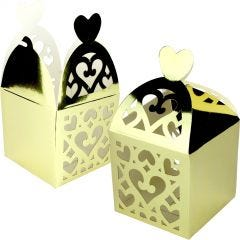 Gold Lantern Paper Lolly/Treat Boxes (Pack of 50)