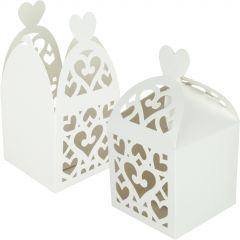White Lantern Paper Lolly/Treat Boxes (Pack of 50)