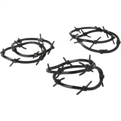 Western Plastic Barbed Wire Bracelets (Pack of 12)