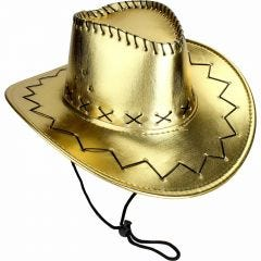 Adults Metallic Gold Outback Cowboy Hat