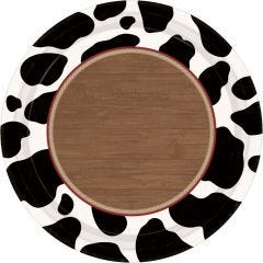 Cow Print Large Paper Plates (Pack of 8)