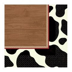 Cow Print Small Napkins / Serviettes (Pack of 16)