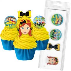 Wiggles Edible Wafer Cupcake Toppers (Pack of 16)