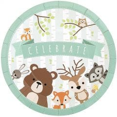 Woodland Friends Large Paper Plates (Pack of 8)