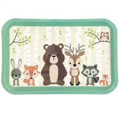 Woodland Friends Small Paper Plates (Pack of 8)