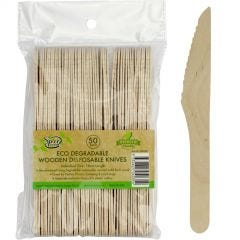 Eco Wooden Knives (Pack of 50)