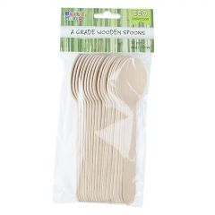 Eco Wooden Spoons (Pack of 18)