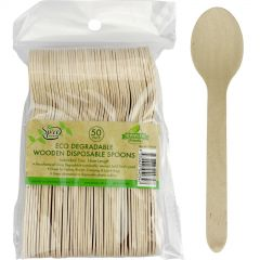 Eco Wooden Spoons (Pack of 50)