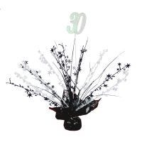 30th Black & White Balloon Weight Table Centrepiece