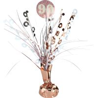 Prismatic Rose Gold and White 90th Birthday Spray Centrepiece