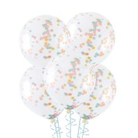 Twinkle Twinkle Little Star Pre-filled Confetti Balloons (Pack of 5)
