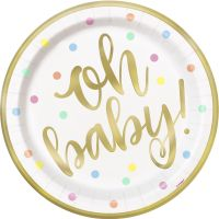 Twinkle Twinkle Little Star Large Paper Plates (Pack of 8)