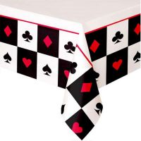 Casino Place Your Bets Plastic Tablecloth