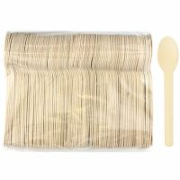 Eco Wooden Spoons (Bulk Pack of 100)