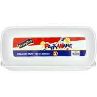 Oblong Plastic Serving Trays 180mm x 390mm (Pack of 2)