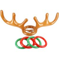 Inflatable Reindeer Antler Hat Ring Toss Game