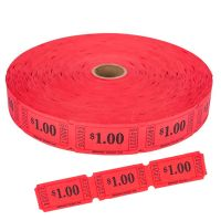$1.00 Single Ticket Roll Red (2000 Tickets)