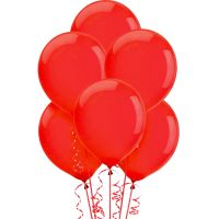Red Balloons 30cm Round (Pack of 25)