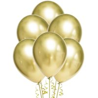 Chrome Gold Balloons 30cm Round (Pack of 10)