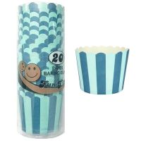 Blue and White Striped Baking Cups (Pack of 25)