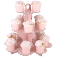 Pastel Pink and White Dot Cupcake Stand
