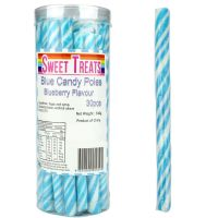 Blue Swirl Candy Poles (Pack of 30)