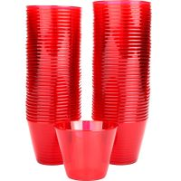Red Plastic Tumbler Cups (Pack of 72)