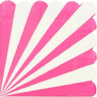 Hot Pink & White Candy Stripe Large Paper Plates (Pack of 8)