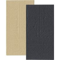 Black and Eco Brown Napkins 1/8 GT Fold (Pack of 20)