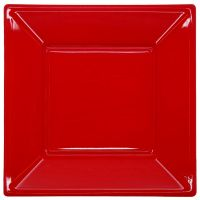 Red Large Plastic Plates (Pack of 8)