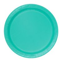 Teal Small Round Paper Plates (Pack of 8)