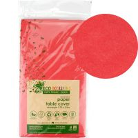 Red Eco Biodegradable Paper Tablecloth