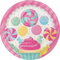 Candy Bouquet Large Paper Plates (Pack of 8)