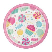 Candy Bouquet Small Paper Plates (Pack of 8)